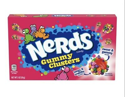 £2.70 • Buy Nerds Gummy Clusters Candy 85g (3oz) Theater Box - American Candy & Sweets