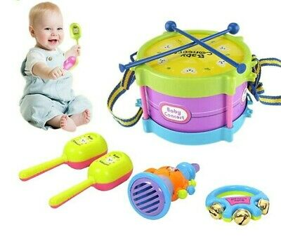 £8.68 • Buy 5Pcs Kids Drum Trumpet Toy Music Percussion Instrument Band Early Learning Toy