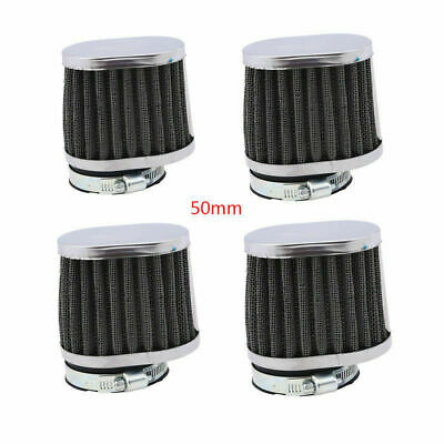 £17.99 • Buy 4PCS 50MM Square Air Filter Pod Cone Washable Universal Motorcycle Motorbike