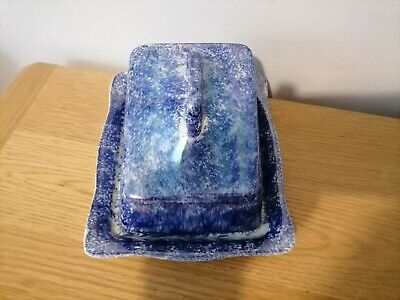 £19.99 • Buy Coronet Ware Parrot Cheese Dish Antique Blue