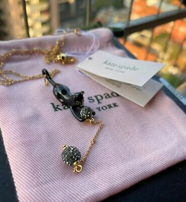 $ CDN31.57 • Buy Kate Spade New York Blace House Cat Y Pendant Necklace