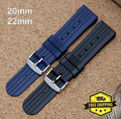 $ CDN23.34 • Buy Waffle Rubber Watch Strap Band 20mm 22mm Aftermarket 6105 6309 MM300 Seiko Diver