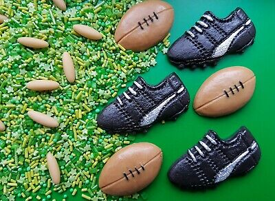 £5.95 • Buy Edible Rugby Boots/Balls And Sprinkles Cake Topper Decorations