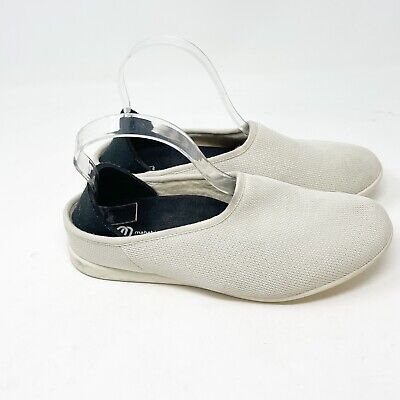 $32 • Buy MAHABIS Womens OUTDOOR SLIPPERS Very Light Ivory Gray Wool Lining 38 / 7.5 US