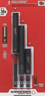 £15.08 • Buy Milwaukee Impact Drive Guide Set Magnetic Power Tool Accessory Shockwave 3 Piece