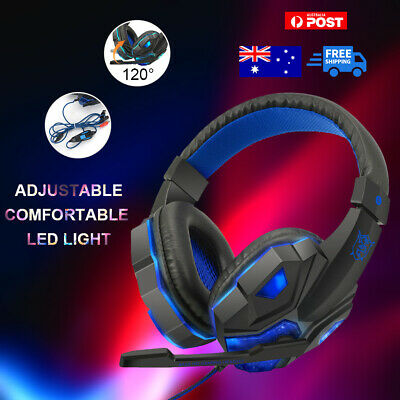 AU12.99 • Buy Gaming Headset AU Computer Game Headphones With Microphone Deep Bass Stereo