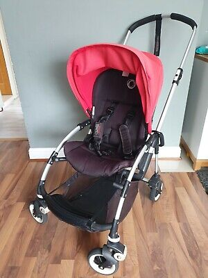 £110 • Buy Bugaboo Bee 3 Red + Raincover And Footmuff