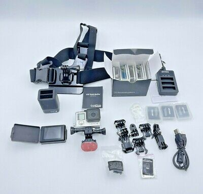 $ CDN251.71 • Buy GoPro HERO4 Silver, LCD Touch Back, OEM Strap, Extra Batteries ,Huge Kits, EXC