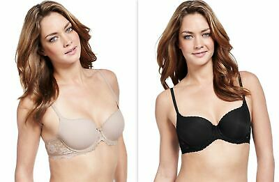 £8.99 • Buy Womens Bra Underwired Padded Balcony T-Shirt Perfect Fit Memory Foam 34 A-D