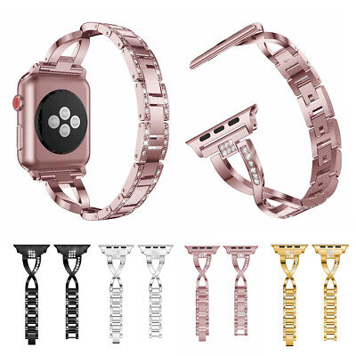 AU23.99 • Buy Stainless Steel Wrist Bling Band For Apple Watch Series 6 5 4 3 2 38/42/40/44MM