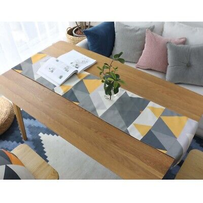 AU31.84 • Buy Geometric Pattern Table Runner Tablecloth Kitchen Dining Table Party Home Decor