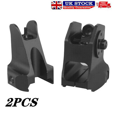 £14.68 • Buy Low Profile Tactical Front And Rear Folding Flip Up Iron Backup Sight Hunting UK