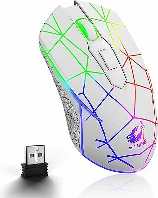AU24.34 • Buy Wireless Gaming Mouse USB Receiver RGB LED Backlit Silent Rechargeable For PC