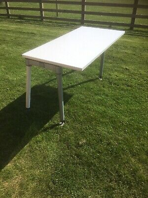 £60 • Buy Herman Miller Desk. Home Office White Top With Grey Legs