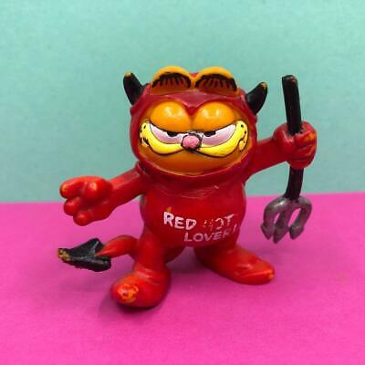£9.99 • Buy Vintage Bullyland Garfield The Cat Red Hot Lover Devil PVC Toy Figure 1980s