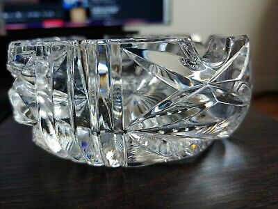 £19.74 • Buy Vintage Heavy Lead Crystal Cut Glass Ashtray 5  Wide 2  Tall
