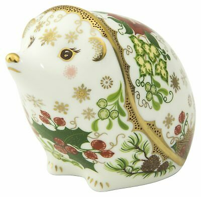 £160 • Buy Royal Crown Derby Christmas Hedgehog Paperweight - New 1st Quality