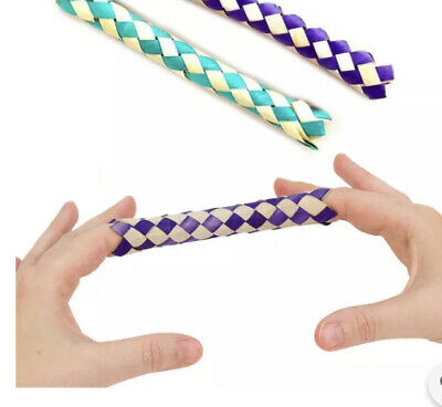 £2.59 • Buy Pack Of 6 Chinese Finger Trap - Hilarious Fun Trick For Kids, Sensory Fidget Toy