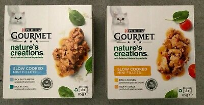 £13 • Buy Gourmet Nature's Creations Slow Cooked FISH / MEAT Wet Cat Food Cans - 16 X 85g