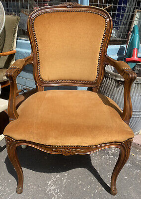 £79 • Buy French Louis Shabby Chic Chair Vintage Rococo Boudoir Salon Bedroom Dressing