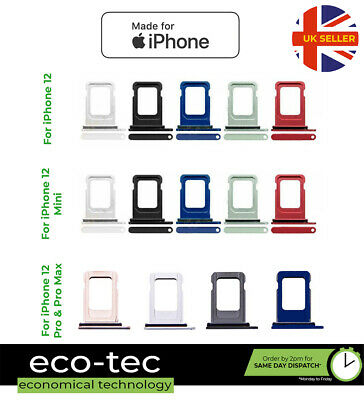 £2.45 • Buy Replacement Sim Tray Slot Holder With Seal For IPhone 12 | Mini | Pro | Pro Max