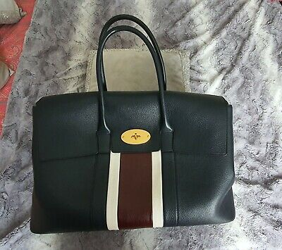 £900 • Buy Mulberry Bag Piccadilly Large Bayswater College Stripe Weekend Travel Bag