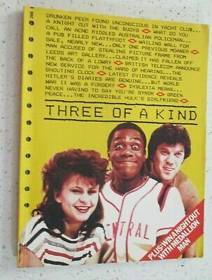 £7.25 • Buy THREE OF A KIND - BBC TV Series Comedy Paperback Book 1983 Tracey Ullmann