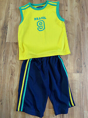 £7.99 • Buy Boys Age 4-5 Years Baseball Brazil Outfit From  Bluebase