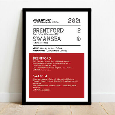 £14.99 • Buy Brentord Fc - Play Off Final Framed Match Print Poster Picture!