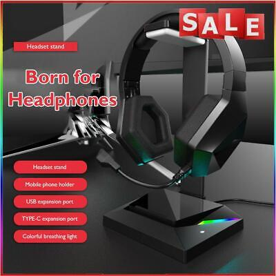 AU25.29 • Buy  Gaming Headset Stand RGB USB Headphones Display Holder For Gamer Gaming PC