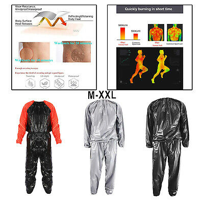 AU17.78 • Buy PVC Fitness Sauna Suit Sweat Water Weight Loss Boxing Gym Exercise Fat Burn
