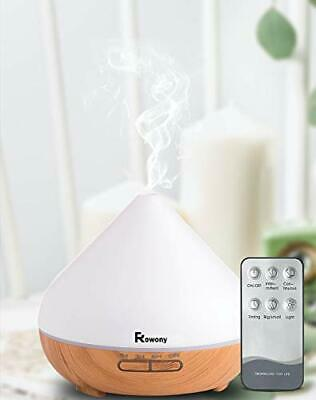 AU57.17 • Buy Rowony 500ml Essential Oil Diffuser With Remote Control For Aromatherapy.