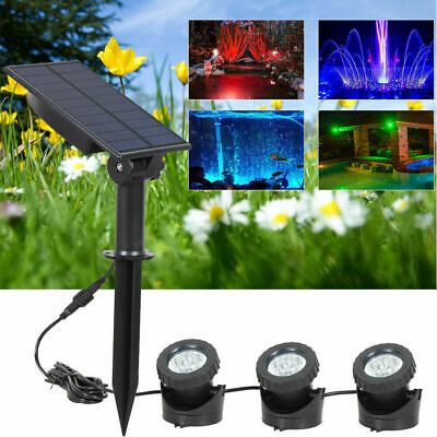 £18.99 • Buy 18LED Solar Powered Spot Lights Waterproof Color Changing Wall Garden Yard Lamp