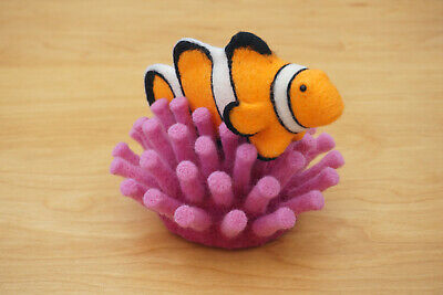 £29.99 • Buy Handmade Crafted Needle Felted Animal Fish Ooak Clownfish & Coral