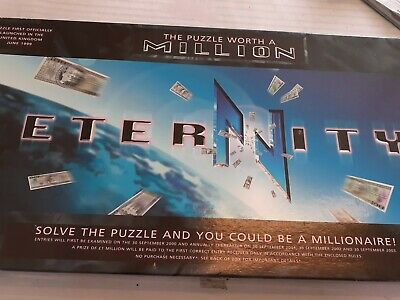 £13.86 • Buy Eternity The Puzzle Worth A Million Board Game