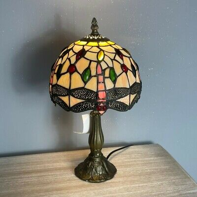 £49.99 • Buy Tiffany Style Table Lamp Handcrafted Art Bedside Light Desk Lamps Stained Glass