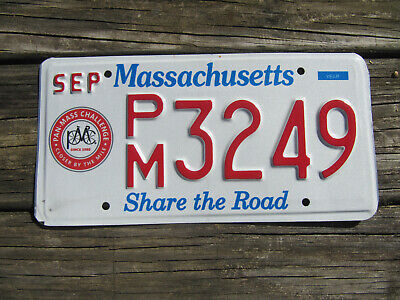 $39.99 • Buy Massachusetts Share The Road License Plate Pan Mass Challenge Bicycle Cyclist MA