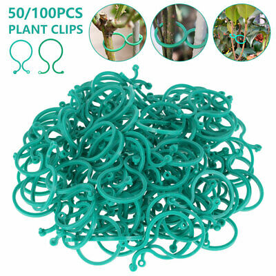 £5.29 • Buy 50/100PCS Garden Ring Tie Clips Plant Support Ties Flower Supports Greenhouse