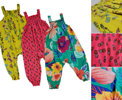 £8.99 • Buy Ex Next Girls Summer Jumpsuits 6m-5Y Beach Dungarees Romper Playsuit Baby Floral