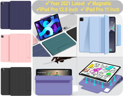 AU16.89 • Buy Year 2021 Magnetic IPad Pro 12.9 Inch Pro 11 Inch Smart Cover Pencil Holder Case