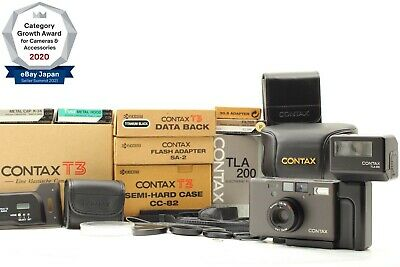 $ CDN7678.97 • Buy Super Rare!!【ALL UNUSED COMPLETE SET】 Contax T3 Double Teeth Black From JPN 1351