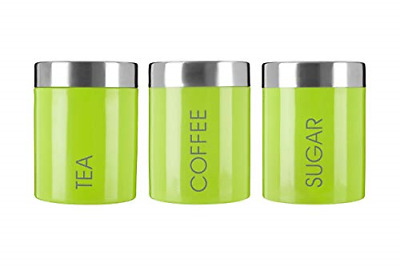 £21.59 • Buy Premier Housewares Liberty Tea Coffee And Sugar Canisters-Set Of 3-Lime Green,