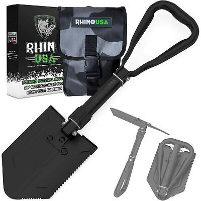 $25.88 • Buy Rhino USA Survival Shovel W/Pick - Carbon Steel Military Style Entrenching Tool