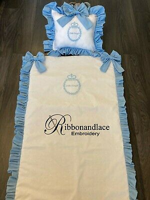 £33.99 • Buy Baby Personalised Bedding Pillow/Cushion/blanket-Baby Shower-Embroidery-Gift-Nur