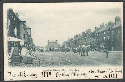 £4.99 • Buy Postcard Northallerton In North Yorkshire The Market Place Undivided Back 1902