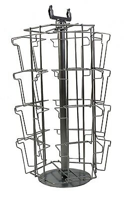 £61.51 • Buy Greeting Card Stand A5, 20 Pocket Rotating Spinning Silver Shop Counter (K4)