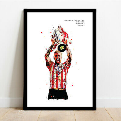 £14.99 • Buy Brentord Fc - Pontus Jansson - Play Off Final Framed Art Print Poster Picture!