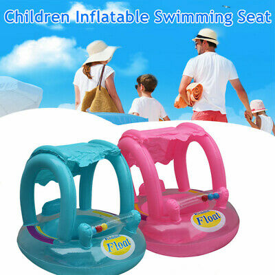 £9.69 • Buy Baby Float Swimming Ring Seat Toddler Kid Inflatable Rubber Ring Boat W/Sunshade