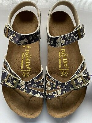 £69 • Buy Navy Flower 'Bali' Sandals By Papillio For Birkenstock. Size 7.5 Or 41. BNWB