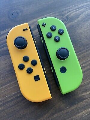 $39.99 • Buy Customized Orange Green Joy-Con Left And Right For Nintendo Switch Controller